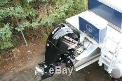 New Triple tube 25 ft Grand Island 150 Mercury with trailer