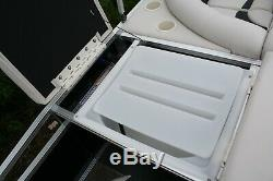 New triple tube 20 ft fish and fun pontoon boat with 150 and trailer