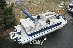 New triple tube 21 ft pontoon boat with 150 hp and trailer