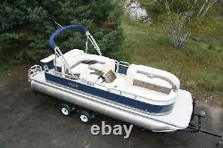 New triple tube 23 ft pontoon boat with 150 hp and trailer