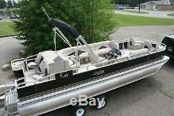 New triple tube 24 ft pontoon boat with 150 and trailer