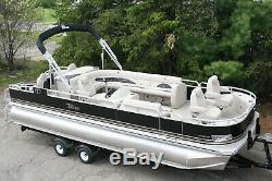 New triple tube 24 ft pontoon boat with 250 and trailer
