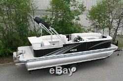 New triple tube pontoon boat with 175 and trailer Rigged and ready to go