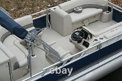 New two tube 21 ft pontoon boat with 115 hp and trailer