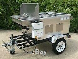 Nsf Hot Dog Deluxe Mobile Food Cart Catering Trailer Kiosk Stand