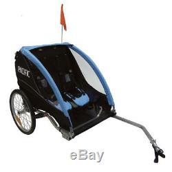 Pacific Bicycle Deluxe 2 In 1 Kids BikeTrailer Stroller 2 Child