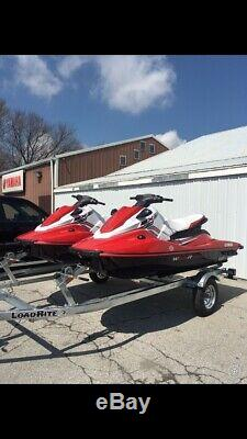 Pair of 2019 Yamaha EX Deluxes low hours New deluxe Loadrite trailer withspare