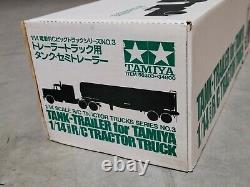 Rare Tamiya R/C 1/14 Semi Shell Fuel Tank Tanker Trailer Tractor Discontinued