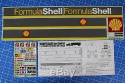 Rare Vintage Tamiya 1/14 R/C Semi Shell Oil Tanker Tank Trailer Decal Sticker