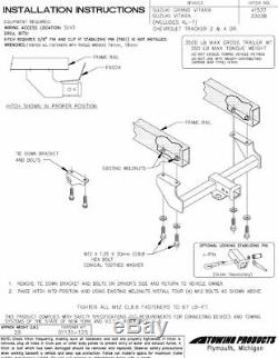 Reese Trailer Tow Hitch For 99-05 Grand Vitara Chevy Tracker 02-06 XL7 with Wiring