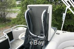 Scratch and dent New triple tube 24 ft pontoon boat with 250 and trailer