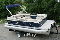 Scratch and dent sale- New 18 ft cruise pontoon boat- 25 four stroke and trailer