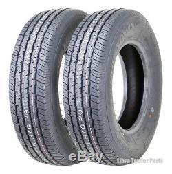 Set 2 Grand Ride Radial Trailer Tires ST205/75R15 205 75 15 8PR Load Range D