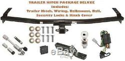TRAILER HITCH FITS 03-08 HONDA PILOT PKG DELUXE With WIRING + COMBO LOCKS & COVER