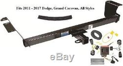 TRAILER HITCH With WIRING KIT FITS 2011-2017 DODGE GRAND CARAVAN CLASS 3 BRAND NEW
