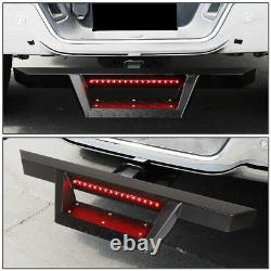 TRAILER TOW HITCH STEP BAR+PIN&CLIP WithLED BRAKE LIGHT FOR TRUCK/SUV 2RECEIVER
