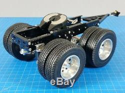 Tamiya 1/14 R/C Semi Trailer 2 Axles Dolly with Lock Pin Mount 5th Wheel Coupler