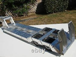 Toy Aluminum 2-Axles Lowboy Flat Deck Trailer Tamiya 1/14 R/C King Grand Hauler