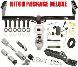 Trailer Hitch Package Deluxe & Wiring Fits 11-20 Toyota Sienna + Security Locks
