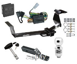 Trailer Tow Hitch For 02-06 Honda CR-V Deluxe Package with Wiring & 2 Ball & Lock