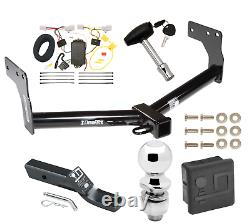 Trailer Tow Hitch For 07-15 Mazda CX-9 Deluxe Package with Wiring & 2 Ball & Lock