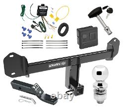 Trailer Tow Hitch For 11-20 BMW X3 Deluxe Package with Wiring Kit & 2 Ball & Lock