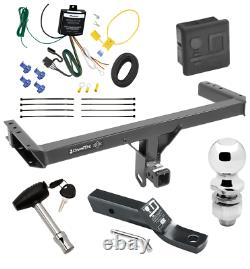 Trailer Tow Hitch For 13-17 Audi Q5 Deluxe Package with Wiring & 2 Ball & Lock
