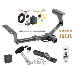 Trailer Tow Hitch For 13-18 Toyota RAV4 Deluxe Package Wiring & 2 Ball & Lock