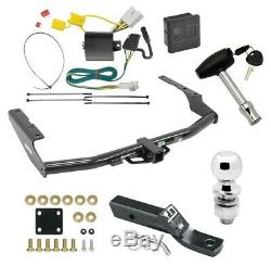 Trailer Tow Hitch For 14-19 Toyota Highlander Deluxe Package Wiring 2 Ball Lock