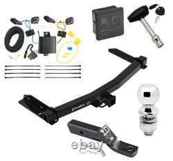 Trailer Tow Hitch For 14-20 Dodge Durango Deluxe Package Wiring & 2 Ball & Lock