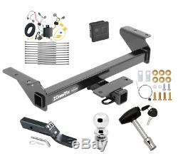 Trailer Tow Hitch For 16-20 Toyota Tacoma Deluxe Package Wiring & 2 Ball & Lock