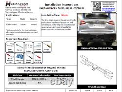 Trailer Tow Hitch For 19-20 Subaru Ascent Deluxe Package Wiring & 2 Ball & Lock