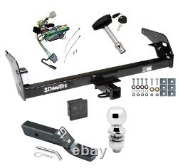 Trailer Tow Hitch For 95-04 Toyota Tacoma Deluxe Package Wiring & 2 Ball & Lock