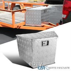 Truck Pickup Aluminum Underbody Tongue Tool Box Trailer Storage with Lock 29x 15
