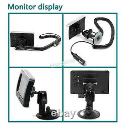 Wireless Magnet Wifi Front/Rear View Trailer Hitch Camera&4.3 Color LCD Monitor