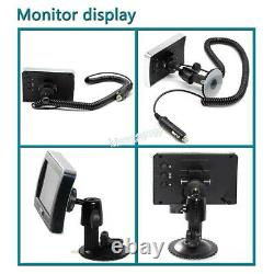 Wireless Magnetic Trailer Hitch Backup Camera & 4.3 LCD Monitor with Guideline