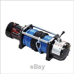 X-BULL 12V 13000LBS Electric Winch Synthetic Rope Truck Jeep OFFROAD Trailer 4WD