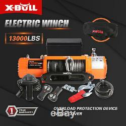 X-BULL 13000LBS Electric Winch Synthetic Rope Jeep Trailer Towing IP67 Truck 4WD
