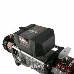 X-BULL 13000LBS Winch Electric Steel Cable Towing Track Trailer 4WD Off-Road 12V