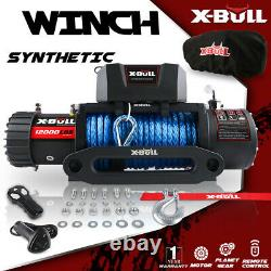 X-BULL Electric Winch 12000LBS Synthetic Trailer With Waterproof Cover Off-Road