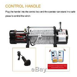 X-BULL Electric Winch 12V 12000LBS Recovery Steel Cable Towing Truck Trailer 4WD