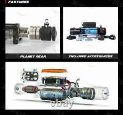 X-BULL12000lbs Electric Winch Synthetic Remote Wireless 4WD Off-road Trailer 12V