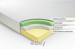 Zinus Deluxe Memory Foam 8 Inch RV / Camper /Trailer/Truck Mattress, Short Queen